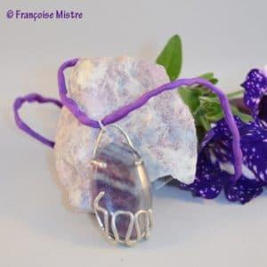 Pendentif fluorite